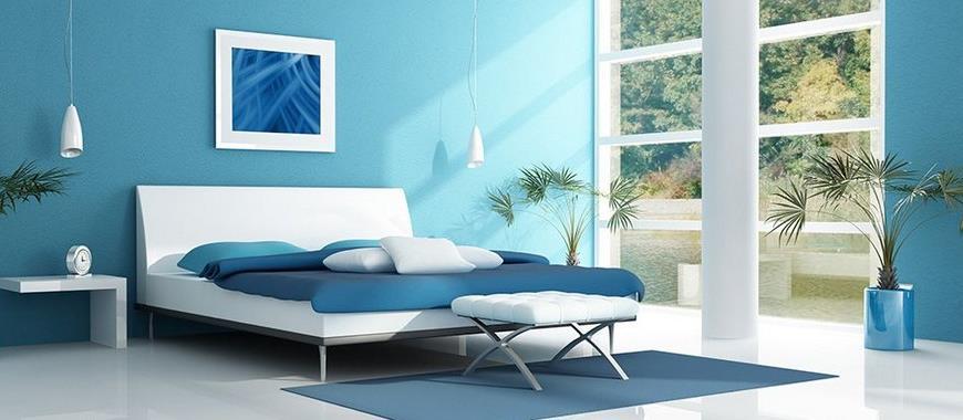 Design Pareti Camera Da Letto.Arredare La Camera Da Letto Con Il Blu Interior Art Design
