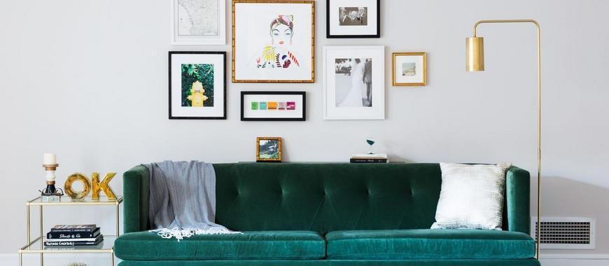 Arredare una parete vuota con le cornici interior art design for Arredare parete