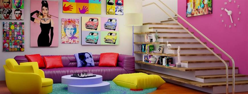 Come arredare casa in stile Pop Art: quadri, mobili e accessori