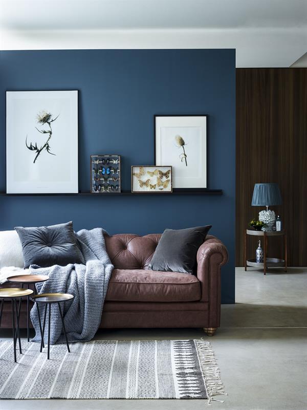 salotto blu