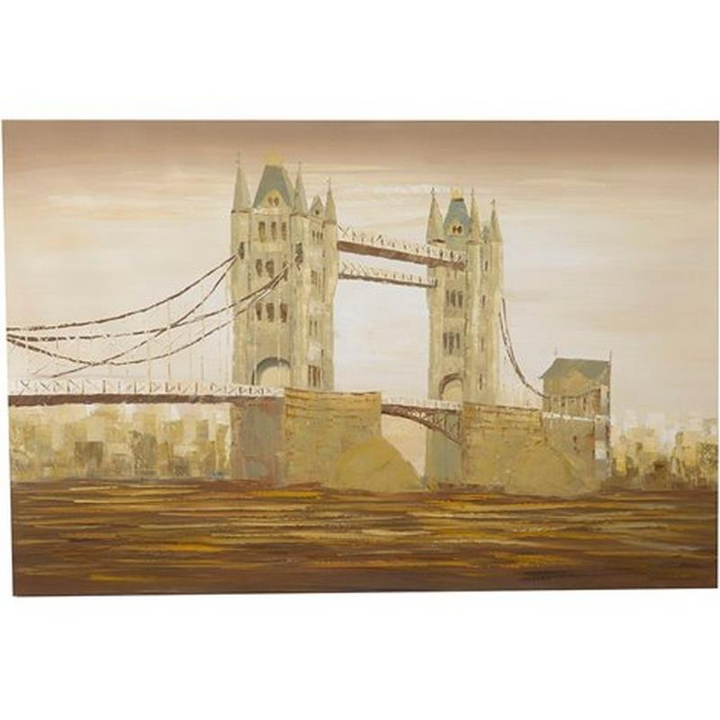 Dipinto a mano olio su tela TOWER BRIDGE 150 X0879