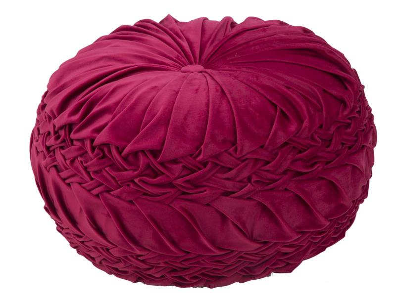 POUF QUEEN GLAM BORDEAUX D.48X25