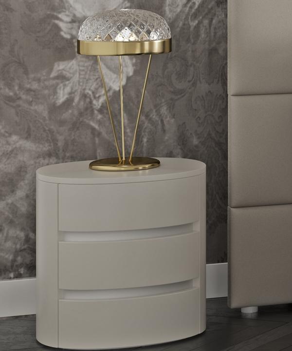 Comodino Classico Di Lusso Legno.Comodino Ovale In Legno Soho Cmdsoho Interior Art Design