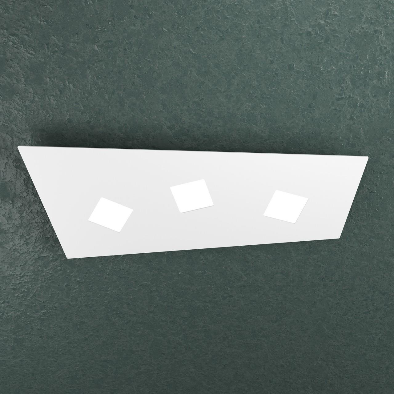 APPLIQUE/PLAFONIERA A 3 LUCI NOTE 1140/3-BI BIANCO